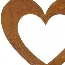 Sydän Rust Puutarha Koriste Metallinen sydän 10cm 12kpl