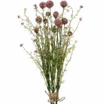 Keinotekoinen Craspedia violetti rumpukapula keinotekoiset kukat 3kpl