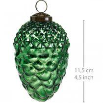 Adventtikoriste, koristeelliset käpyjä, syksyn hedelmät aitoa lasia, antiikkinen ilme Ø7cm H11,5cm 6kpl.