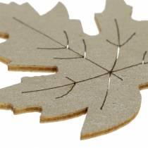 Hajallaan olevat vaahteranlehdet keltaiset, ruskeat, platinavalikoima 4 cm 72p