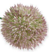 Keinotekoinen Allium-silkkikukka vihreä, vaaleanpunainen koriste-sipuli tekokukkana