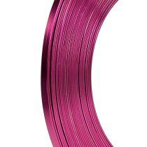 Alumiininen litteä lanka vaaleanpunainen 5mm 10m