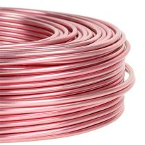Alumiinilanka Ø2mm 500g 60m vaaleanpunainen