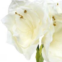 Keinotekoinen kukka Amaryllis valkoinen joulukoriste H40cm