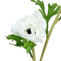 Anemone keinotekoinen valkoinen 6kpl