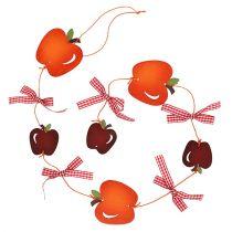 Apple garland punainen 86cm 3kpl