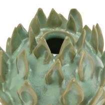 Dekovase Artikschocke keraaminen vihreä Ø9,5cm H9cm