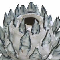 Dekovase Artikschocke keraaminen sininen, valkoinen Ø9,5cm H9cm