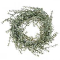 Parsaseppele Keinotekoinen valkoinen, harmaa Koristeellinen seppele Koristeellinen parsa Ø20cm