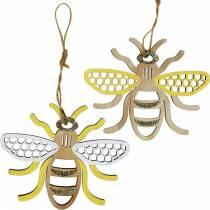 Riippuva koristelu Mehiläiset Keltainen, valkoinen, kultainen puu kesäkoriste 6kpl