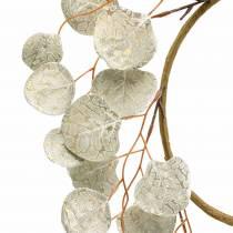 Lehti seppele keinotekoinen samppanja pyöreät lehdet Ø55cm