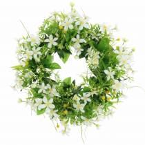 Seppele vuokko / tilli vihreä, valkoinen Ø30cm