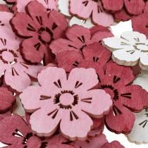 Puiset kukat kirsikankukkia, ripoteltu koriste kevät, pöydän koristelu, kukat ripotella 72kpl.