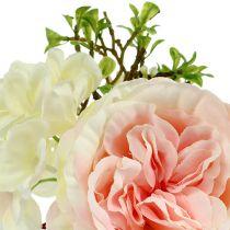 Kukkakimppu mini vaaleanpunainen-kerma 20cm