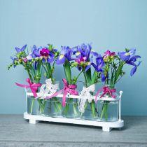 Kukkamaljakko apteekkipullot apteekkilasi koriste tarjottimella 38cm