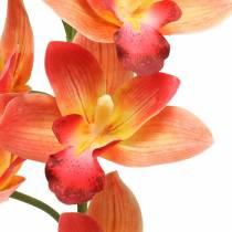 Orkidea tekokukka Cymbidium Orange 74cm