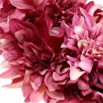 Dahlia kukka seppele vanha ruusu, malva Ø42cm