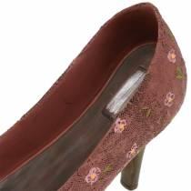 Koristeellinen kenkien istutuskenkä ruskea 24cm × 8cm K13.6cm