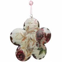 Koristeellinen kukka ripustaa pionit nostalginen metalli kevät koriste 4kpl