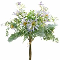 Deco kukkakimppu, silkkikukat violetti, kevät Deco, keinotekoinen Asters neilikat ja Eucalyptus