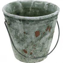 Koristeellinen ämpäri, kukkaruukku, keraaminen ämpäri Antiikki Look Ø19,5cm K19cm