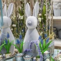 Koristeellinen pupu harmaa parvinen 47cm pääsiäispupu koriste pääsiäinen pääsiäinen