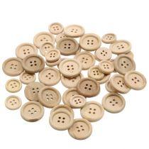 Koristeelliset napit luonnolliset 1,5 cm - 2,5 cm 150 s