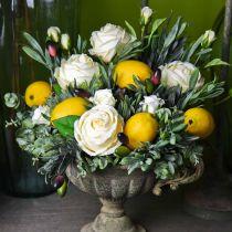 Koristeellinen ruusu silkkikukkia kimppu kerma 36cm 8kpl 8kpl