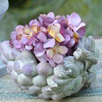Deco kulho viinirypäleet harmaa violetti kerma 19×14cm H9,5cm