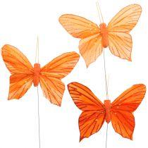 Koristeellinen perhonen oranssi 12kpl
