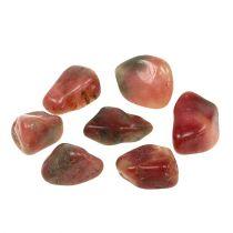 Koristekivet vaaleanpunainen-kerma kiiltävä 4cm - 6cm 1kg
