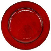 Koristelevy Ø28cm punainen-musta muovi