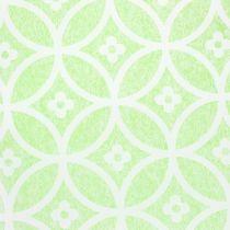 Koristeellinen pöydän teippi kukilla vaaleanvihreä 30cm x 300cm