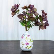Koristeelliset maljakko valkoiset kukat Ø11cm K17.5cm