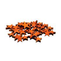 Puinen tähtiseos oranssi sirottamiseen 3-5 cm 72kpl