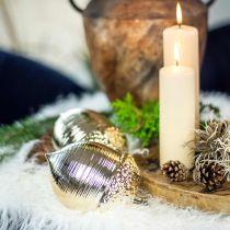 Deco Tammenterho Keraaminen Kultainen Pöytä Koriste Joulu 13,5cm 2kpl