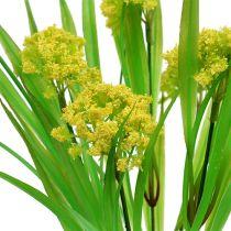 Koristeellinen ruoho kukilla keltainen, vihreä L30cm
