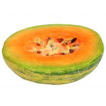 Koristeellinen hunajameloni puolittunut oranssilla, vihreällä 13 cm