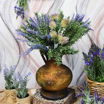 Deco kannu antiikki näyttää maljakko vintage metalli puutarha koristelu H26cm