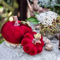 Deco Kurpitsa Punainen Pöytä Koriste Syksy Polyresiini 10,5×9cm 2kpl