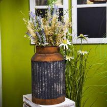Deco maitotölkki Vintage näyttää metalli Planter puutarha koristelu H35cm