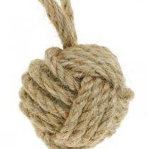Ripustettava koriste kyyhkynen pallo juutti luonto Ø5,5cm 3kpl