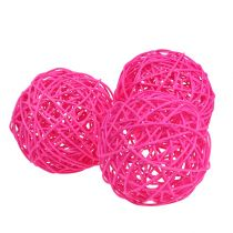 Dekoball Pink 10cm 6kpl