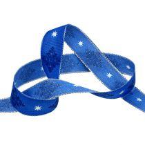 Koristeellinen nauha sininen kuviolla 25mm 20m