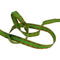 Koristeellinen nauha vihreä, langan reuna 15mm 15m
