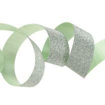 Koristeellinen nauha vaaleanvihreä kiille 10mm 150m