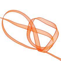 Koristeellinen nauha oranssi, pisteillä 7mm 20m