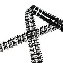 Koristeellinen nauha musta, hopea 10mm 4m