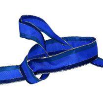 Koristeellinen nauha, langan reuna sininen 25mm 20m