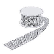 Koristeellinen nauha katuefektillä hopea 40mm 2m